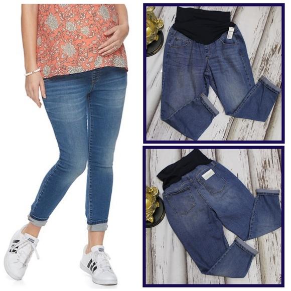 4993d75d00a35 A Glow Pants   New 2288 Size 16 54 Maternity Capri Jeans   Poshmark